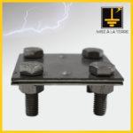 Clames 2 plaques pour ruban + M8 X 25 mm