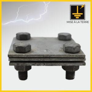 Clames 3 plaques pour ruban M8 X 25 mm