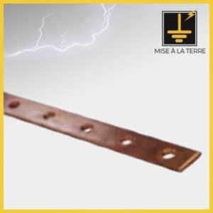Barres de cuivre simple perforation