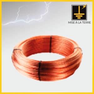 Câble cuivre nu multibrins